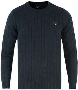 Gant Cotton Cable Crew Neck Pullover