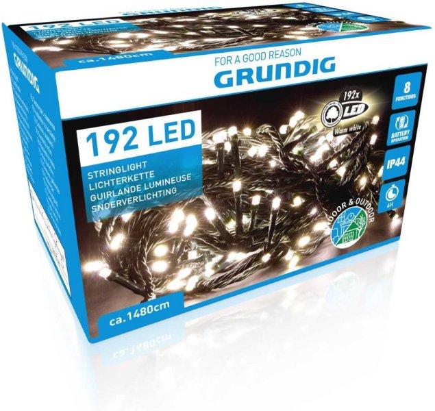 Grundig Julelysslynge 192 LED 14,8m