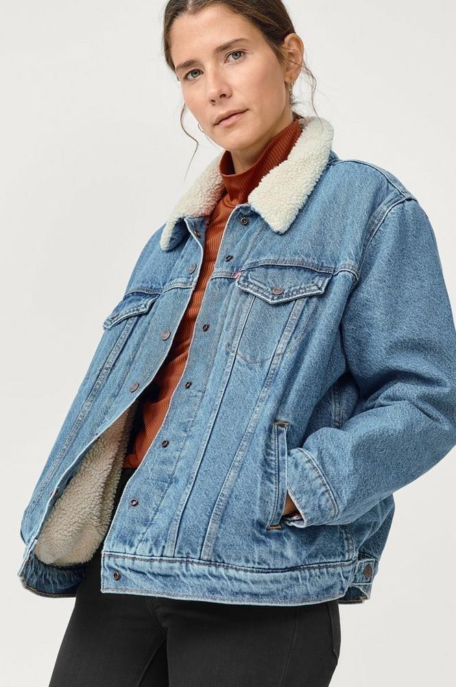 Levi's Women's Denim Jacket Original Sherpa Trucker Wild