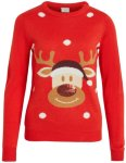 Vila Red Nose Reindeer Julegenser (Dame)