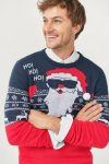 Ellos Rød & Blå HoHoHo Julegenser (Herre)