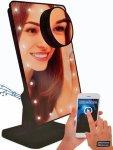 LED sminkespeil med Bluetooth høyttaler
