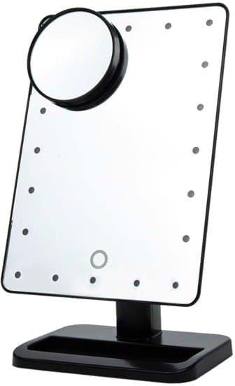 Shelas Sminkespeil med LED lys og forstørrelse
