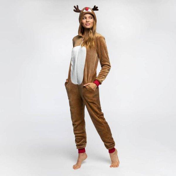 SillySanta Reinsdyr Jumpsuit (Dame)