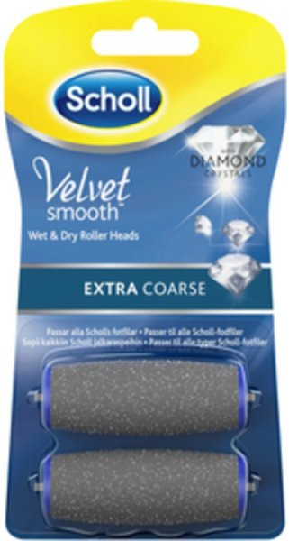 Scholl Velvet Smooth Extra Coarse refill 2 stk
