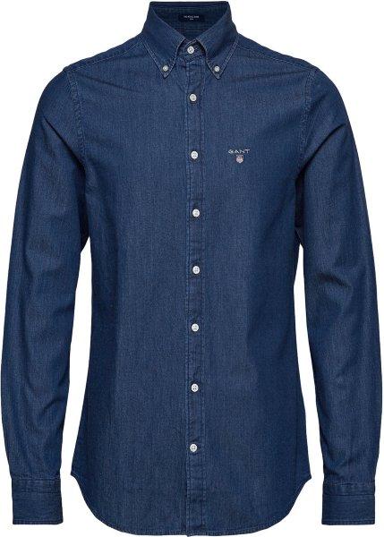 gant skjorte dame blå