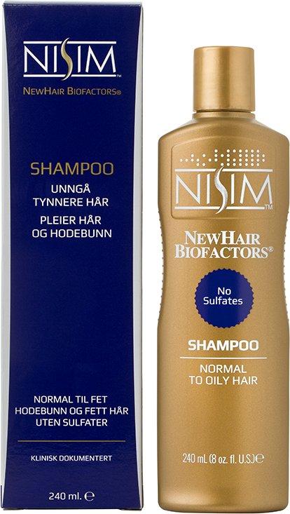 Nisim NewHair Biofactors Shampoo Normal til fet hodebunn og fett hår