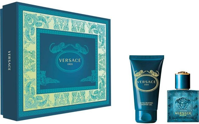 Versace Eros EdT 50ml + 50ml Aftershave Balm + 50ml Shover Gel