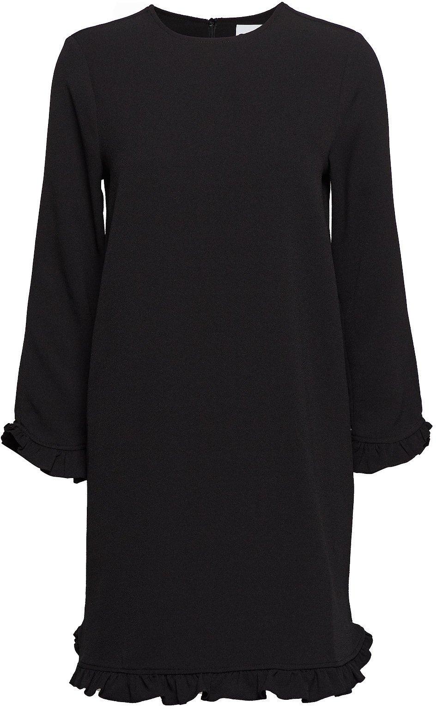 GANNI Recycled heavy crepe svart kjole til dame
