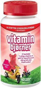 Vitaminbjørner tyggetabletter med bringebærsmak
