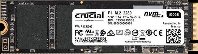 Crucial P1 SSD 500GB