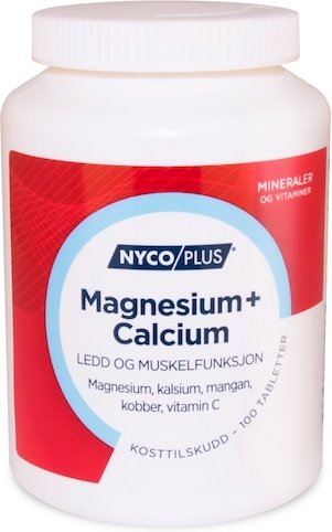 Nycoplus Magnesium + Calcium 100 tabletter