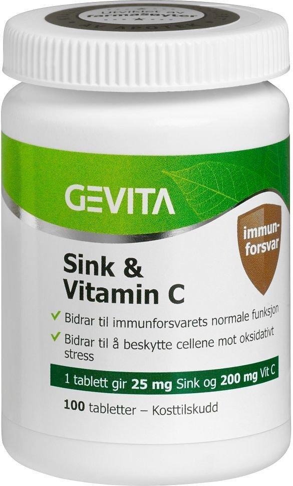 Orkla Gevita Sink & Vitamin-C 100 tabletter