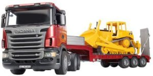 Bruder Scania R-Series Low loader