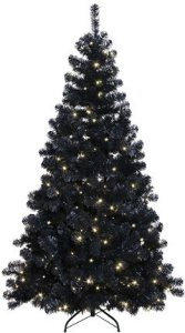 Star Trading Ottawa juletre med LED lys 210cm svart