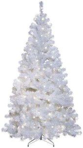 Ottawa juletre med LED lys 210cm hvit