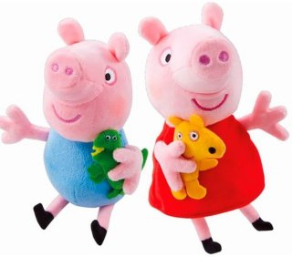 Peppa & George Plush