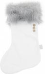 Cotton & Sweets Julestrømpe grå/hvit
