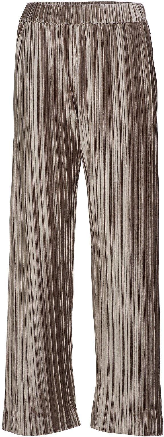Velvet Plissé Trousers Vide Bukser Brun FILIPPA K