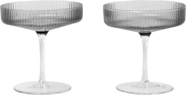 Ferm Living Ripple champagneglass 2 stk