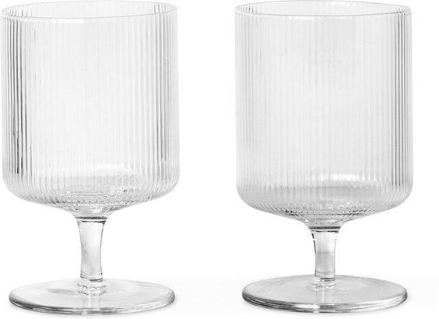 Ferm Living Ripple vinglass 27cl 2 stk