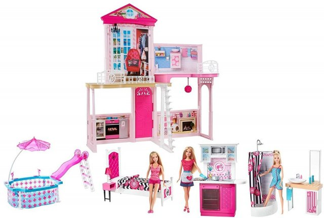 Barbie Dreamhouse (m/dukker og møbler)