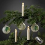 Hellum Grunnpakke trådløse LED-juletrelys, 10 lys