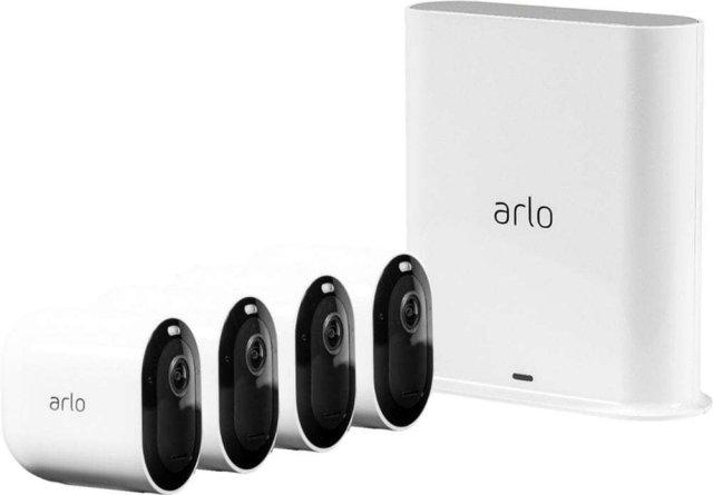 Arlo Pro 3 (4 kameraer og smarthub)