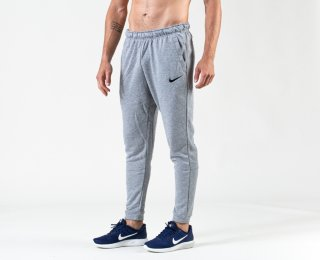 Nike Dry Pant Taper Fleece, treningsbukse herre Grå