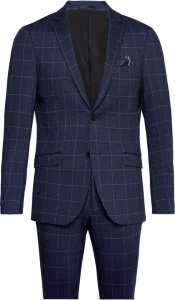 Lindbergh Checked Mens Suit