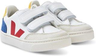 Veja V-12 Leather Velcro Sneakers (Barn)