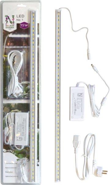Nelson Garden LED plantelys 15W med adapter