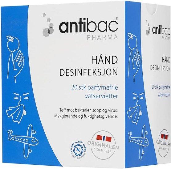 Antibac Pharma Våtservietter 20 stk