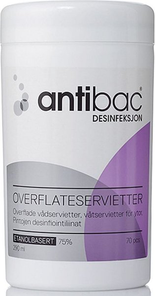 Overflatedesinfeksjon Våtservietter >70% Alkohol 150stk
