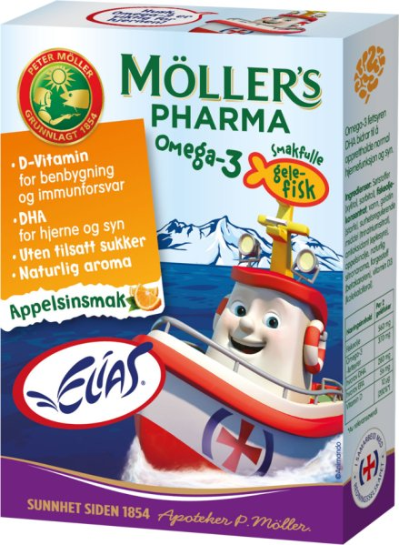 Møllers Pharma Omega-3 gelefisk