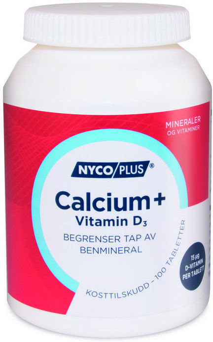Nycoplus Calcium+ Vitamin D3 120 tabletter