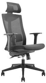 Ergonomisk kontorstol med høy rygg og nakkestøtte