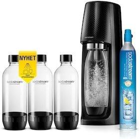Sodastream Spirit + 3 oppvaskmaskinsikre flasker
