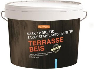 Harmoni Terrassebeis Hvitkalket (9 liter)