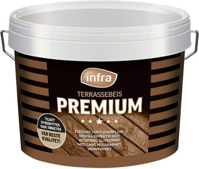Infra Premium Terrassebeis (9 liter)