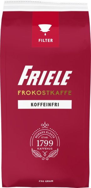 Friele Kaffe Koffeinfri filtermalt 250g