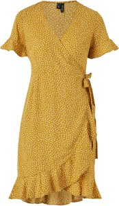 Vero Moda Henna Wrap Frill 2/4 Dress