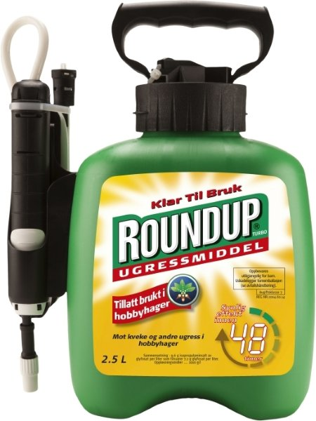Roundup ugressmiddel turbo 2,5 liter klar til bruk