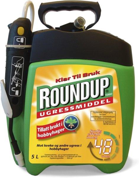 Roundup ugressmiddel turbo 5 liter klar til bruk