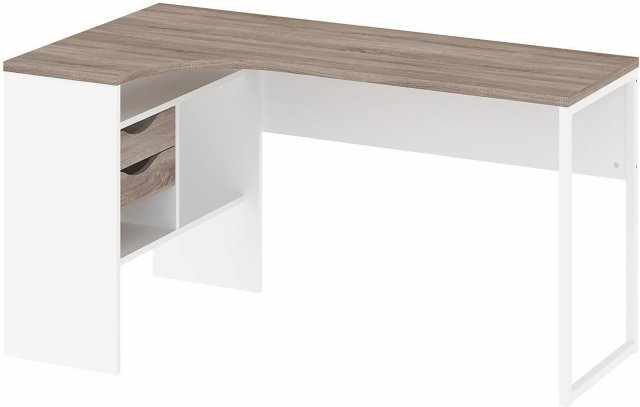 Tvilum Function Plus skrivebord 145cm tre/hvit