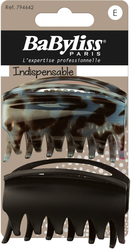 Babyliss Indispensable Croco-Clips Anti-Glide 2 stk