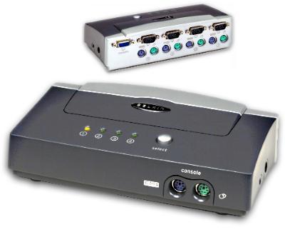 Belkin Omniview E Series 4-Port KVM Switch, PS/2