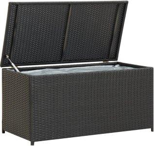 VidaXL Utendørs oppbevaringsboks polyrotting 100x50x50cm