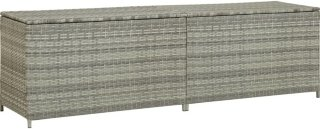 VidaXL Utendørs oppbevaringsboks polyrotting 200x50x60cm