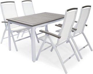 Nydala spisegruppe 90x150-200cm + 4 posisjonsstoler